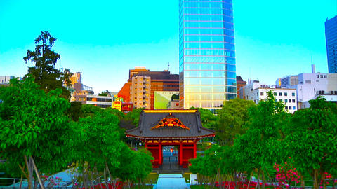 asian buildings Stock Video Footage