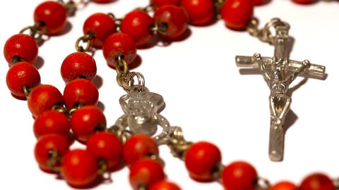 red rosary Stock Video Footage