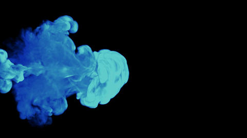 Colorful Abstract smoke shapes. Alpha channel is included Stock Video Footage