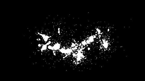 White blots, blobs and stains over black. Useful as Alpha... Stock Video Footage