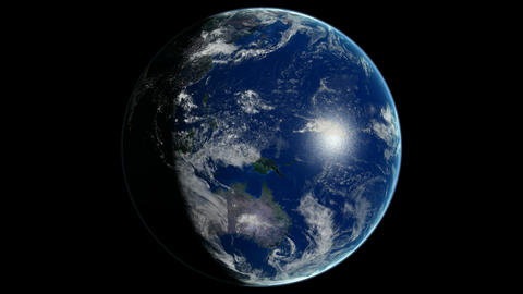 Loopable Planet Earth Rotating CG animation. Alpha... Stock Video Footage
