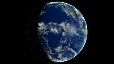 Loopable Planet Earth Rotating CG animation. Alpha channel is included Animation