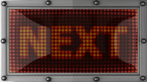 next announcement on the LED display Stock Video Footage