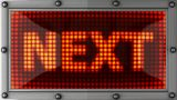 Next Announcement On The LED Display stock footage