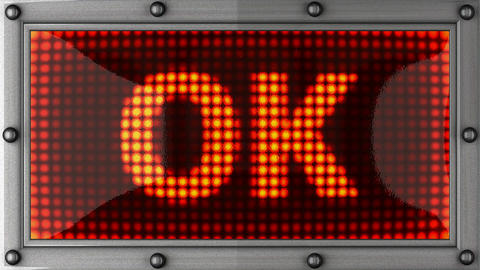 ok announcement on the LED display Animation