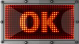 Ok Announcement On The LED Display stock footage