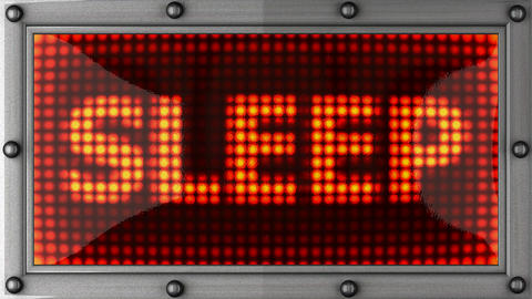 sleep announcement on the LED display Stock Video Footage
