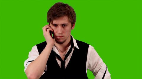 people emotionally said cellular phone Stock Video Footage