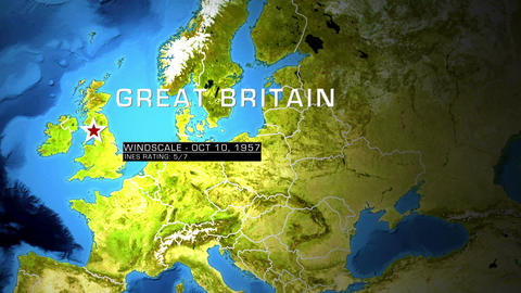 continental map Stock Video Footage
