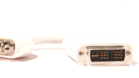 white hdmi cable Stock Video Footage