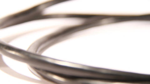 black Firewire cable Stock Video Footage