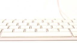 white keyboard Stock Video Footage