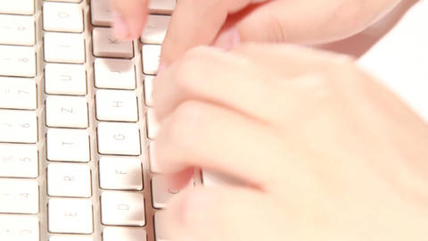 keyboard typing Stock Video Footage