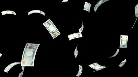 Money Yen L bm with alpha Stock Video Footage