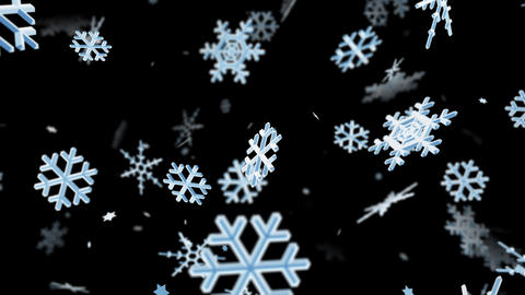 Snow Flake lb with alpha Stock Video Footage
