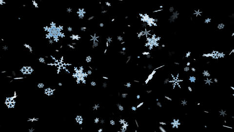 Snow Flake ma with alpha Stock Video Footage
