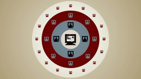 Computer Global Profile Loop HD Stock Video Footage