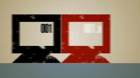 Computer Multiple Backup Loop HD Animation
