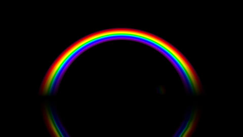 Rainbow AM With Alpha stock footage