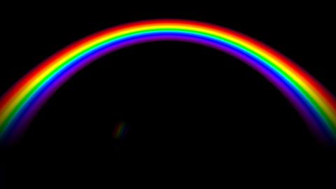 Rainbow BM with alpha Stock Video Footage