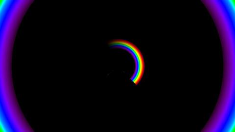 Rainbow FM with alpha Animation
