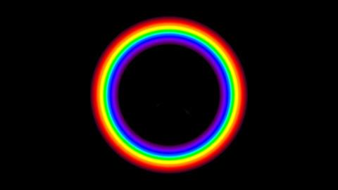 Rainbow FM with alpha Stock Video Footage
