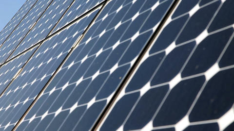 ecologic electricity solar plates in national park Footage