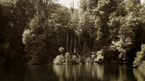 Beautifull landscape in Plitvice national park wit Footage