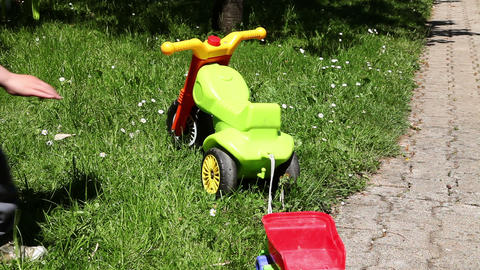 Shot of little boy riding his bike Live Action
