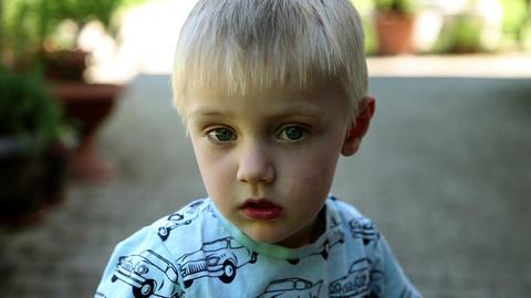 Close Up Of Sad Child stock footage