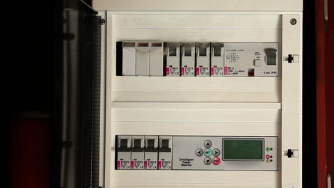 Close shot of a failure in electric fuse closet Footage