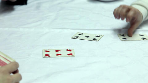 Playing cards Stock Video Footage