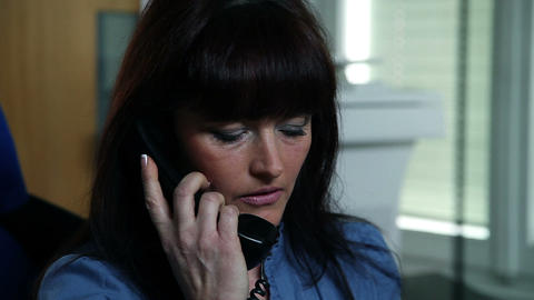 Business woman talking on the telephone Footage