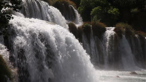 Composite shot of waterfall on krka river, the las Footage