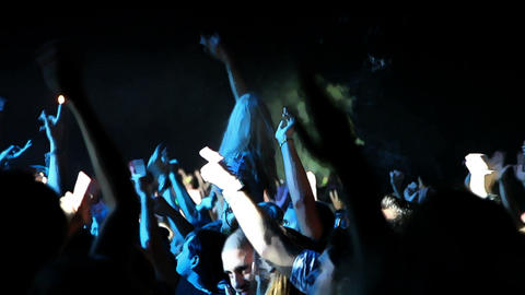Shot of the crowd on the concert Footage