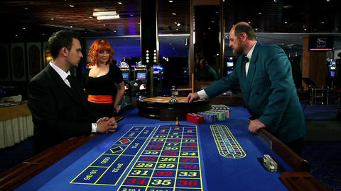 Placing the bet at roulette Footage