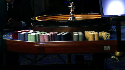 Roulette In Casino Bled stock footage