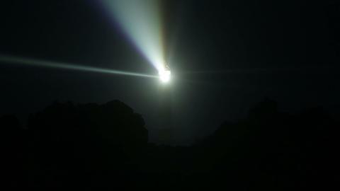 Very powerful lighthouse illuminated in night Footage