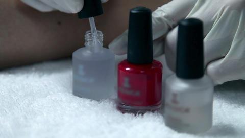 Nail polish pedicure Footage
