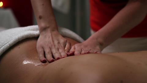 Massage in a beauty spa salon Footage
