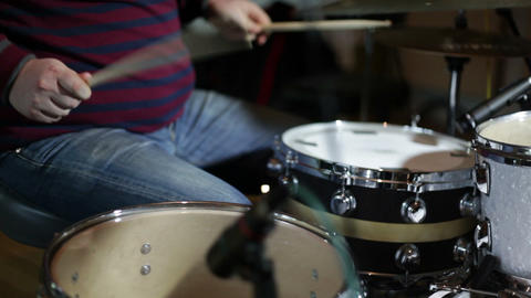 musican playing drums Footage