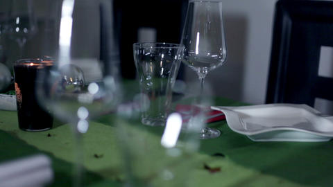 Detail of beautifully decorated table for special  Footage
