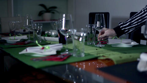 Specially decorated table for an extra occasion Footage