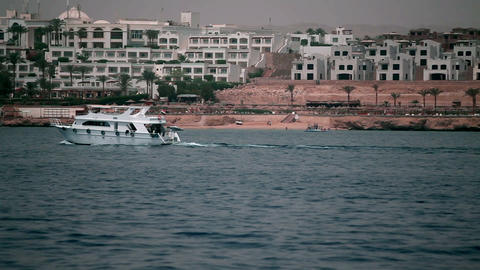 Passing by a turist resort in Sharm el-Sheikh Footage