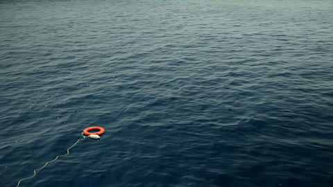 Life ring for saving lives in sea Footage