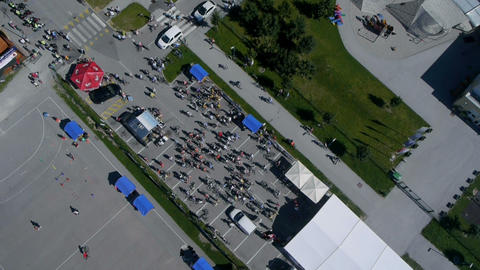 Sky shot of event scene at day Footage