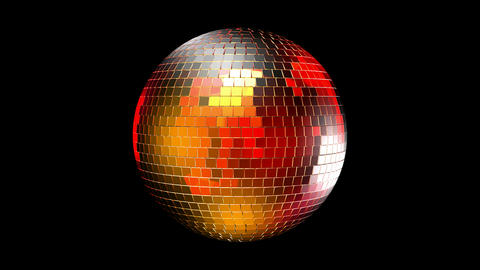 Rotating disco ball with reflected lights. Seamless loop,... Stock Video Footage