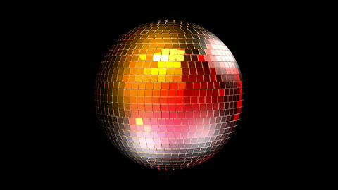 Rotating disco ball with reflected lights. Seamless loop, Alpha channel is included Animation