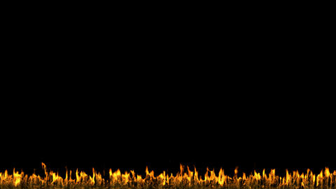 Fire and Flame CG animation. Alpha channel is included Stock Video Footage