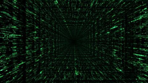 Pass-through. Loopable swift flight through the binary... Stock Video Footage